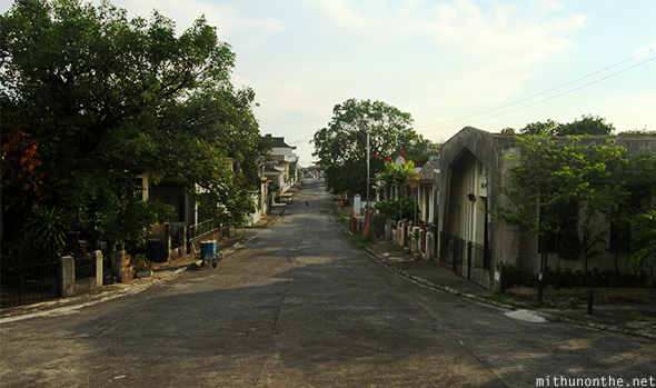 Inside Chinese cemtery streets Manila
