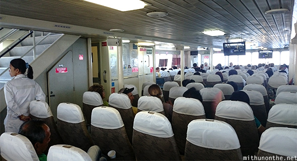 Inside Sun Cruise ferry Correigidor tour