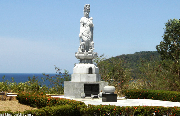 Japanese goddess garden of peace Corregidor island