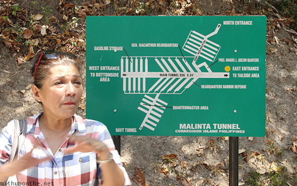 Malinta tunnel map Corregidor island