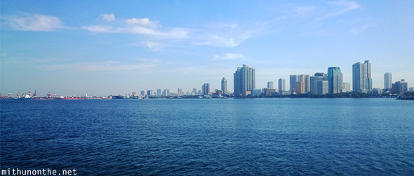 Manila city from sea