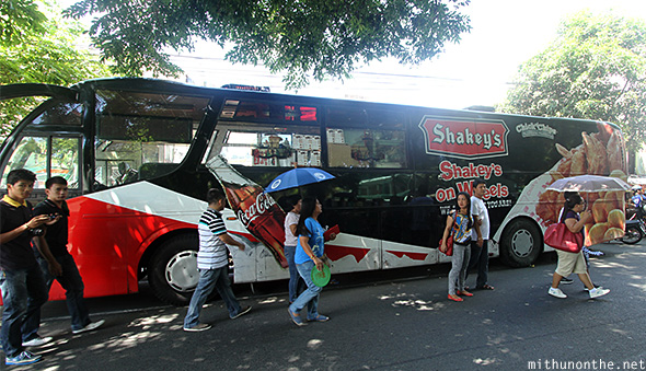 Lucban Philippines  city images : Shakeys on wheels Lucban Philippines