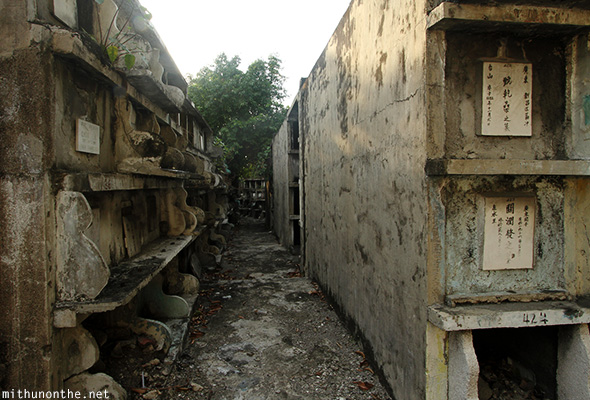 Stacked graves Chinese cemetery Manila