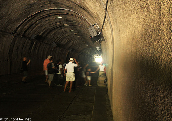 Tourists Malinta tunnel Corregidor island