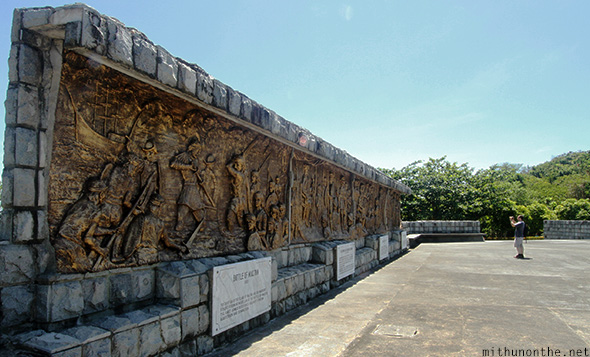 Wall sculptures Corregidor island battles