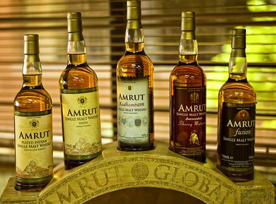Amrut Indian whisky range