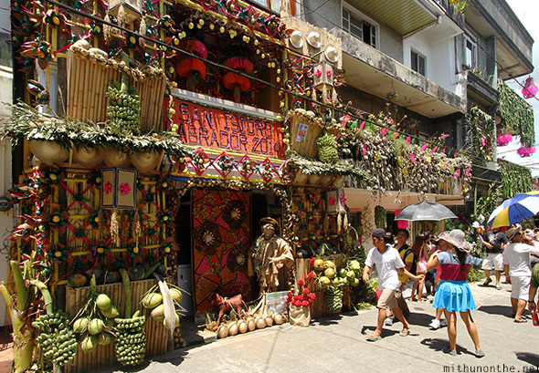 Decorated homes Pahiyas festival Philippines