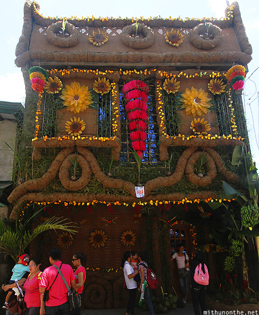 Harvest decorated house Lucban Philippines