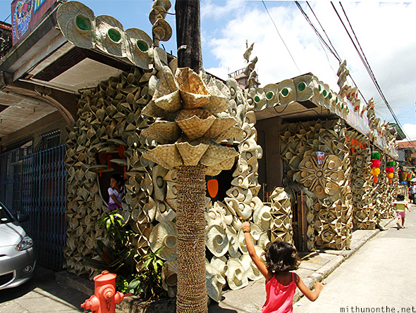 Hat decorated house Lucban Philippines
