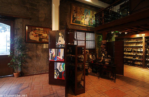 Inside Marikina shoe museum art