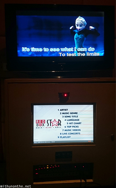 Redbox karaoke machine Let it go