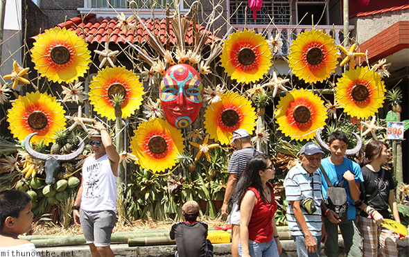 Sunflower tourists Lucban Philippines