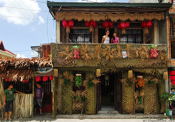 Tourists visit house Pahiyas festival