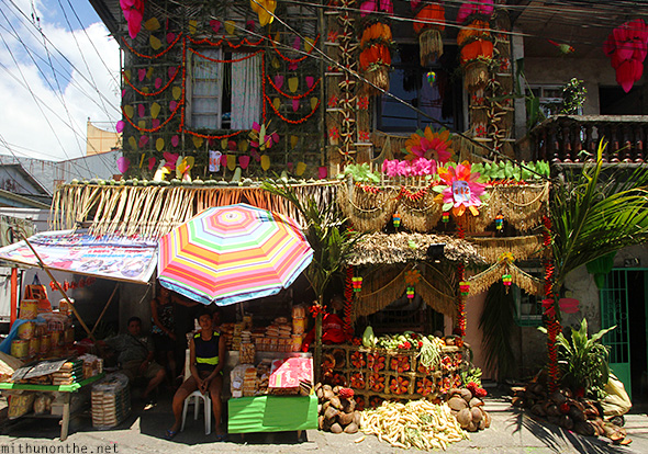Vegetable decoration harvest festival Philippines