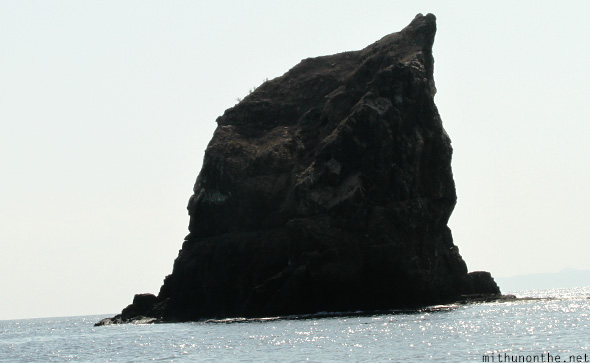 Dolphin rock formation Oman sea