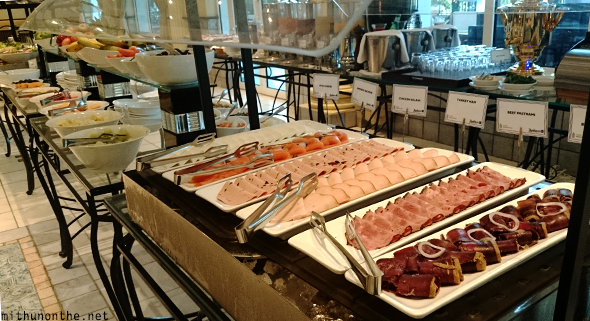 Ham cold cuts buffet Radisson Blu Muscat