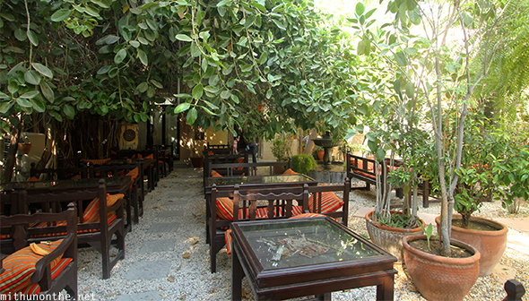 Kargeen Cafe outdoor seating Muscat