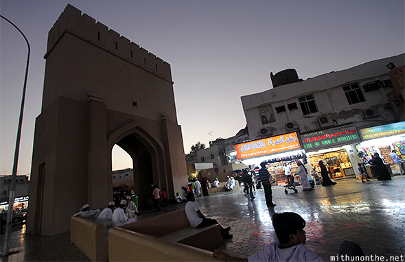 Mutrah souq back entrance Muscat