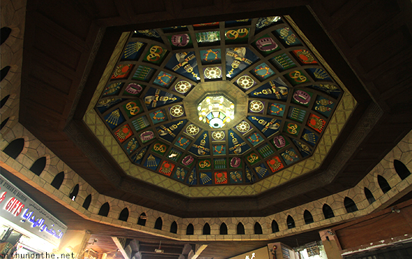 Mutrah souq glass decor Oman