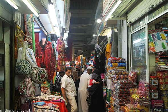 Mutrah Souq narrow lane Muscat Oman