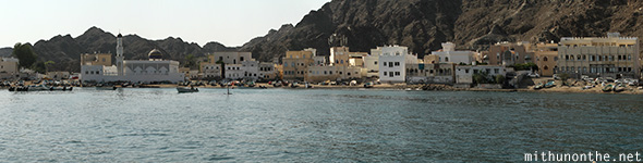 Omani village by Arabian sea