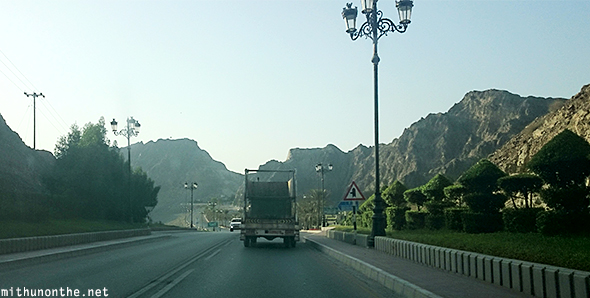 Road to Port al Bandar Muscat