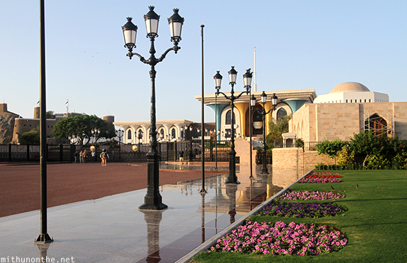Royal Palace lawn Muscat Oman