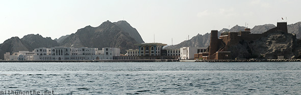 Sultan Palace from sea Oman
