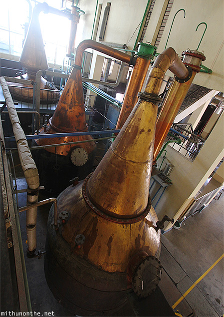 Copper pot stills Amrut factory