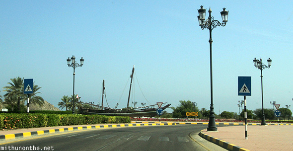 Dhow roundabout Muscat Oman