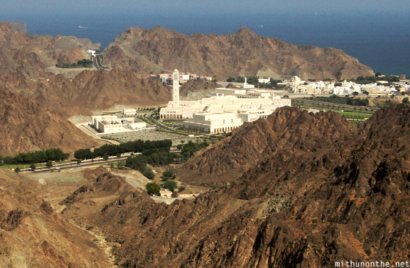 Majlis Oman from mountain top Muscat