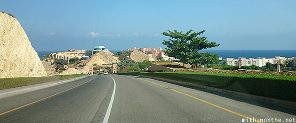 Road to resorts Muscat