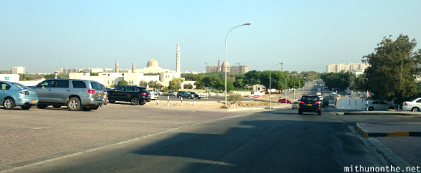 Driving to Grand Mosque Muscat