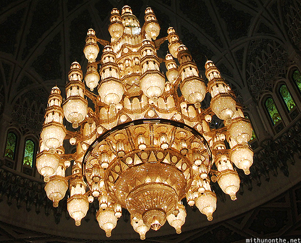 Grand Mosque chandelier Muscat Oman