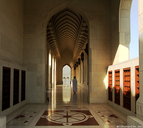 Inside Sultan Qaboos mosque Muscat
