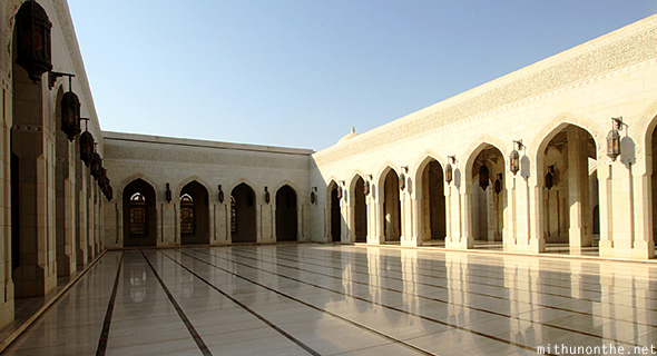 Open area Grand Mosque Oman
