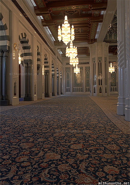 Carpet Sultan Qaboos mosque Muscat