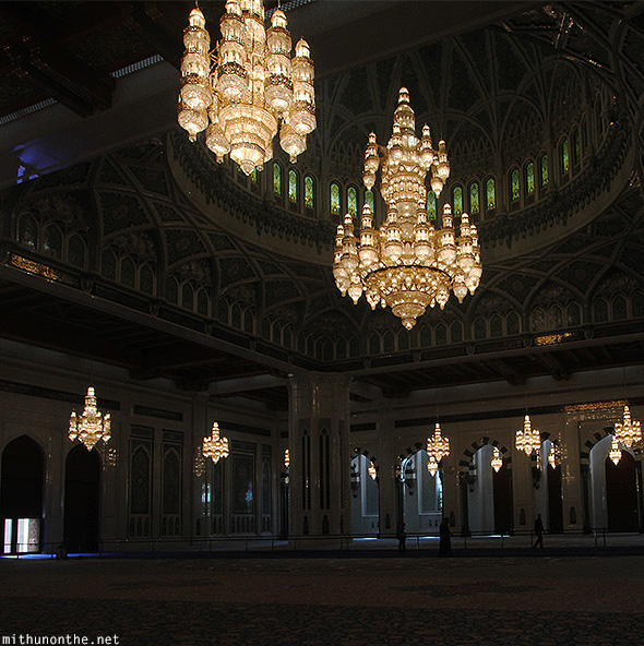 Chandeliers Grand Mosque Oman