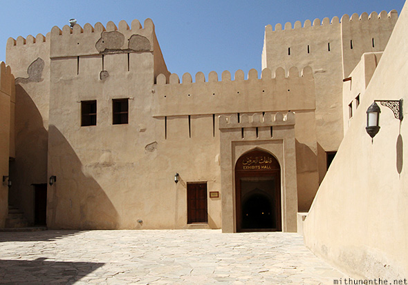 Exhibits hall Nizwa fort Oman