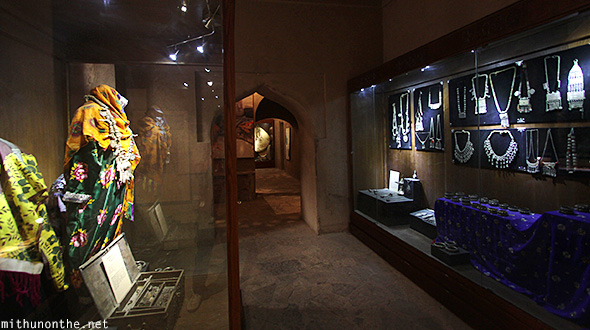 Exhibits inside Nizwa fort Oman