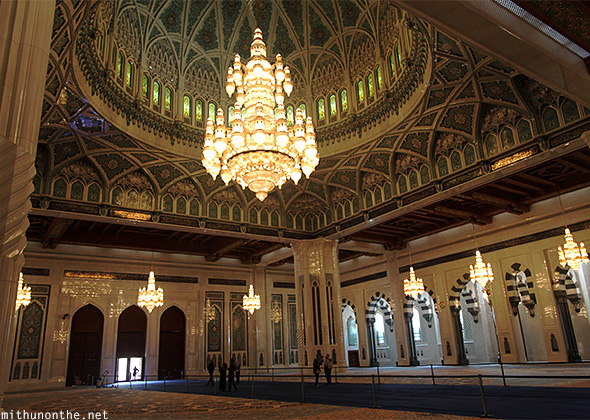 Grand Mosque interiors Muscat Oman