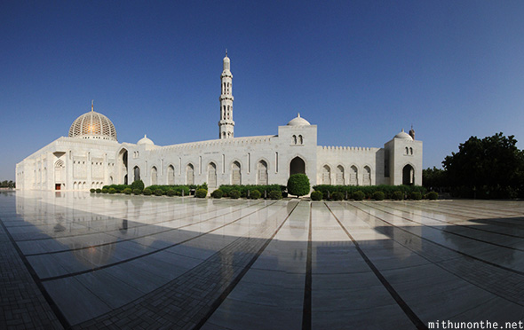 Grand Mosque Muscat Oman panorama