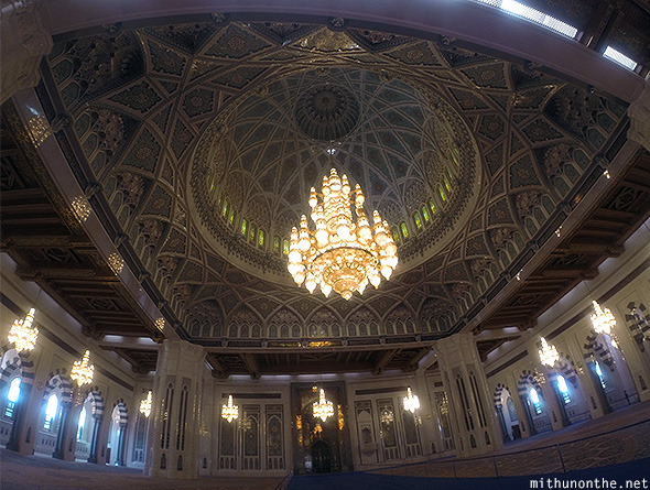 Inside Grand Mosque dome GoPro Oman took