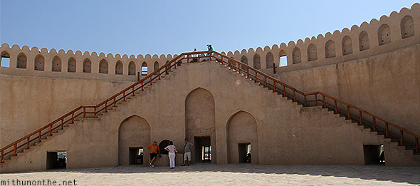 Inside Nizwa fort steps Oman