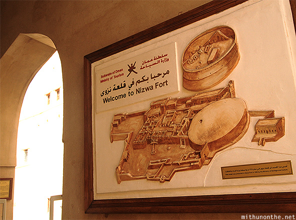 Nizwa fort map Oman