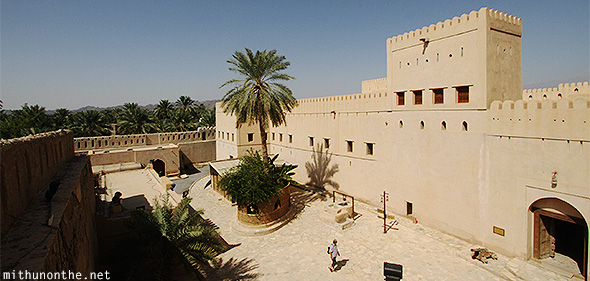 Nizwa fort outer area Oman