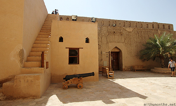 Nizwa fort steps Oman