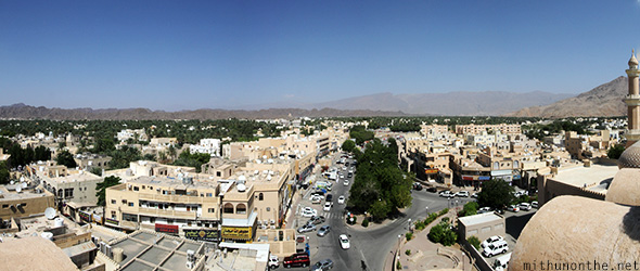 Nizwa town fort view Panorama