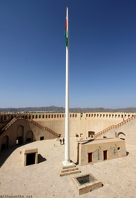 No wind flagpole Nizwa Oman