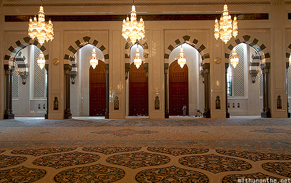 Prayer hall Sultan Qaboos mosque